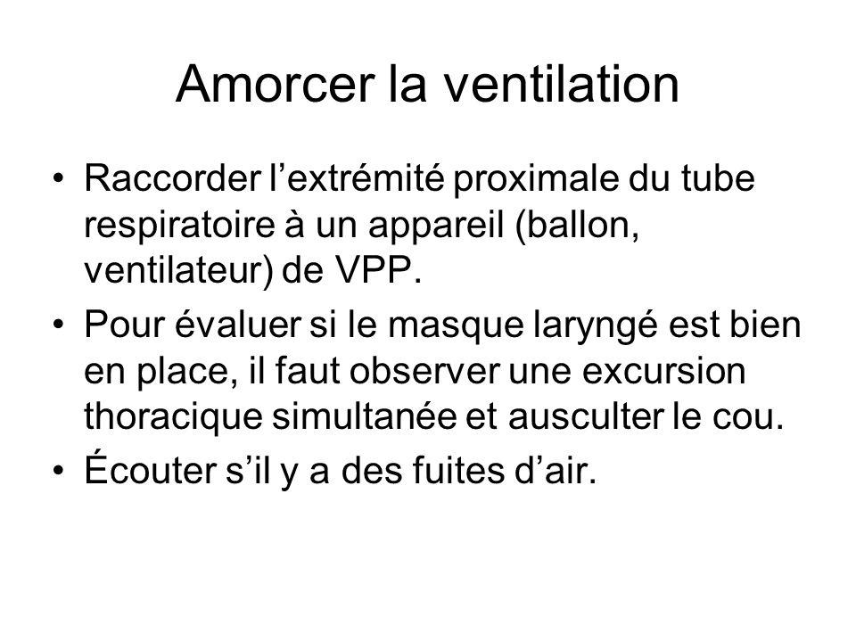 Amorcer la ventilation