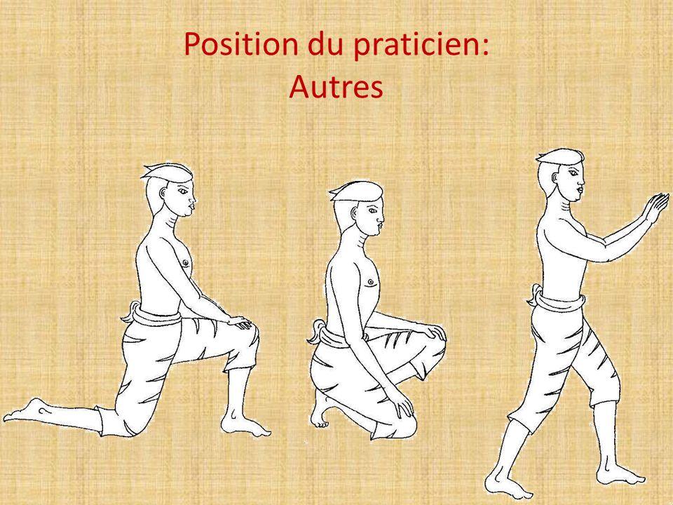 Position du praticien: Autres