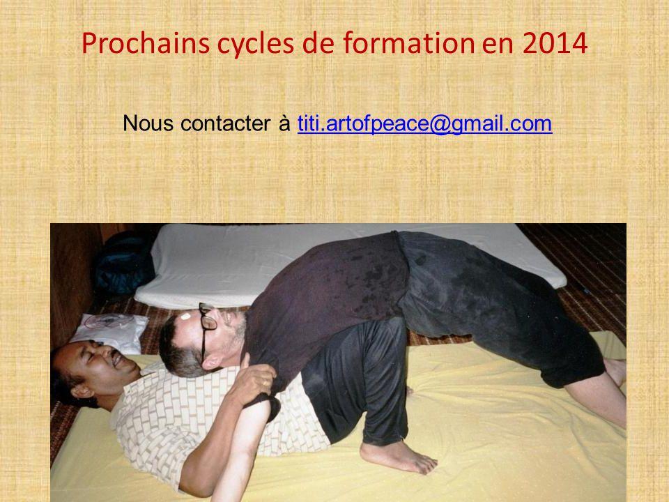 Prochains cycles de formation en 2014