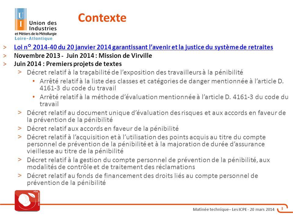 Contexte Loi n° 2014-40 du 20 janvier 2014 garantissant l'avenir et la justice du système de retraites.