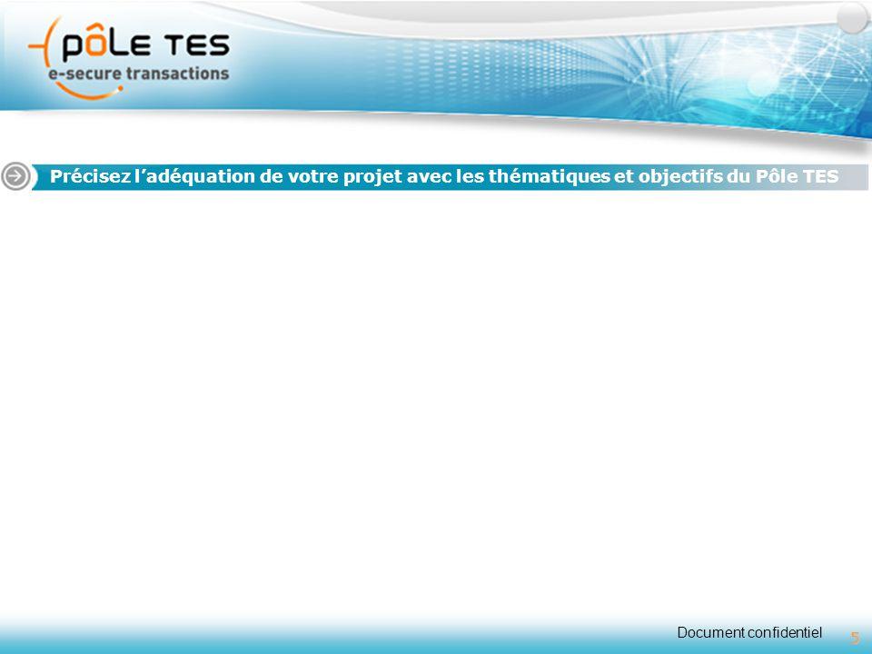 Titre 1 Précisez l'adéquation de votre projet avec les thématiques et objectifs du Pôle TES 5