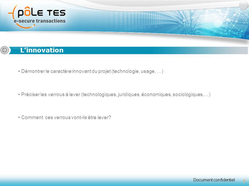 Titre 1 L'innovation. Démontrer le caractère innovant du projet (technologie, usage, …)