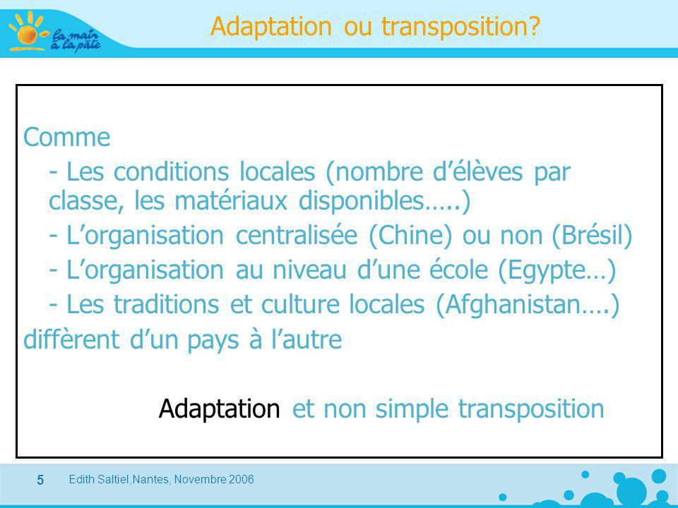 Adaptation ou transposition