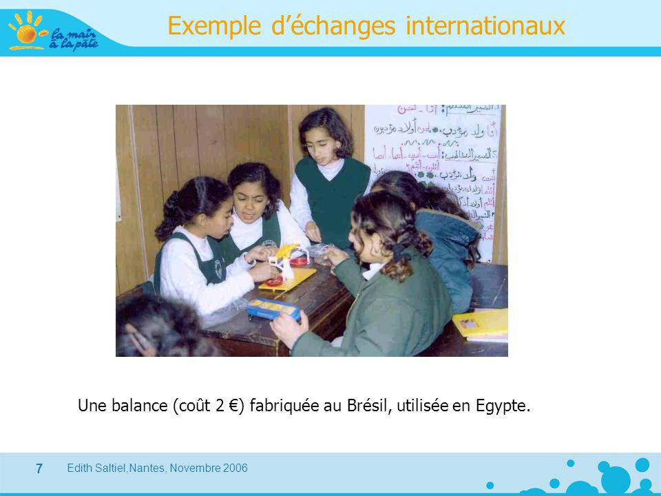Exemple d'échanges internationaux
