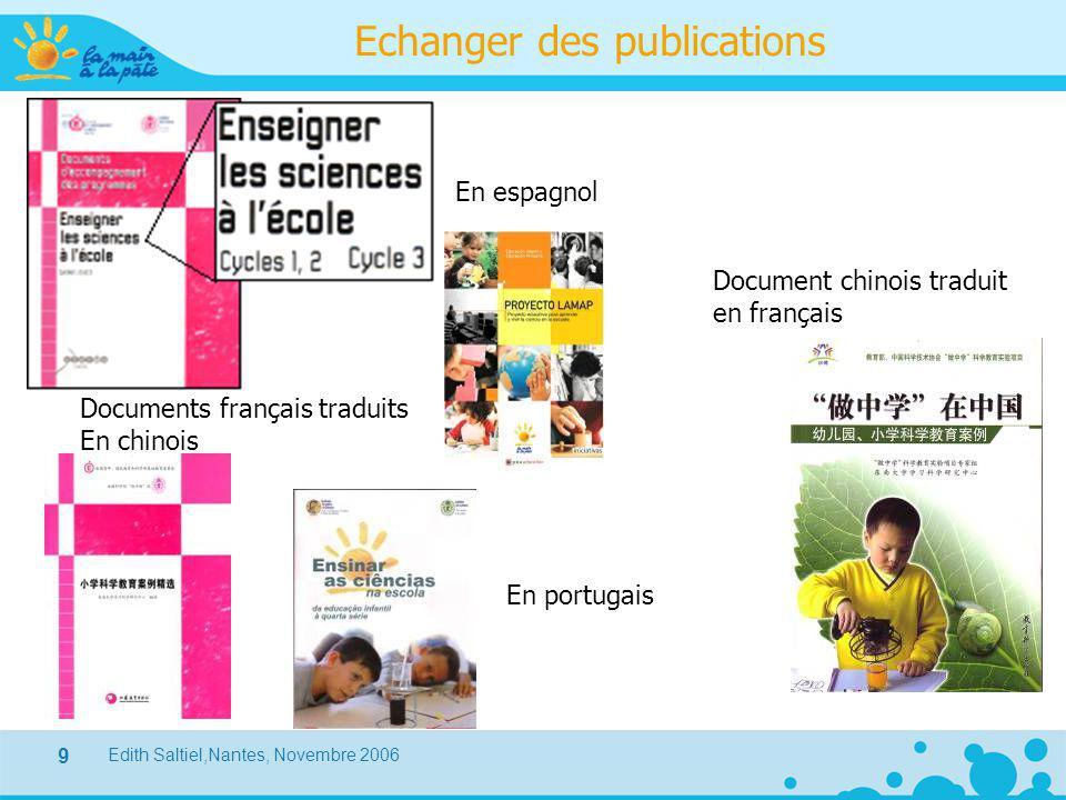 Echanger des publications