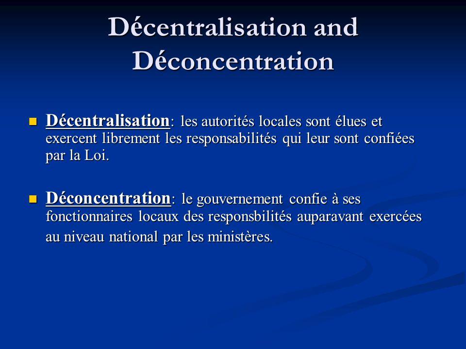 Décentralisation and Déconcentration