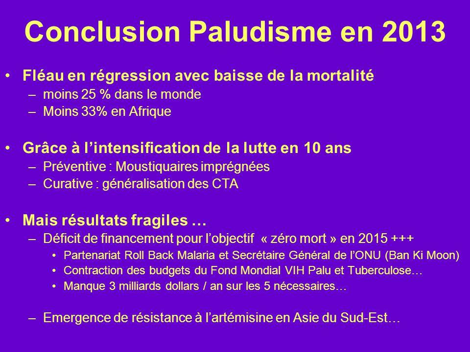 Conclusion Paludisme en 2013