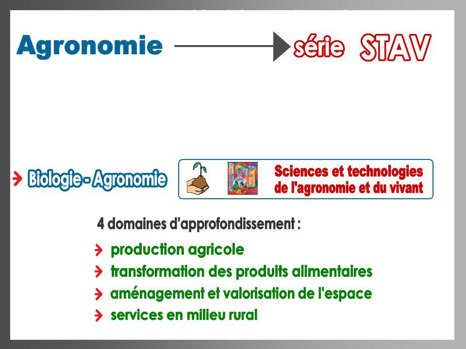 Sciences et technologies Biologie - Agronomie Biologie - Agronomie