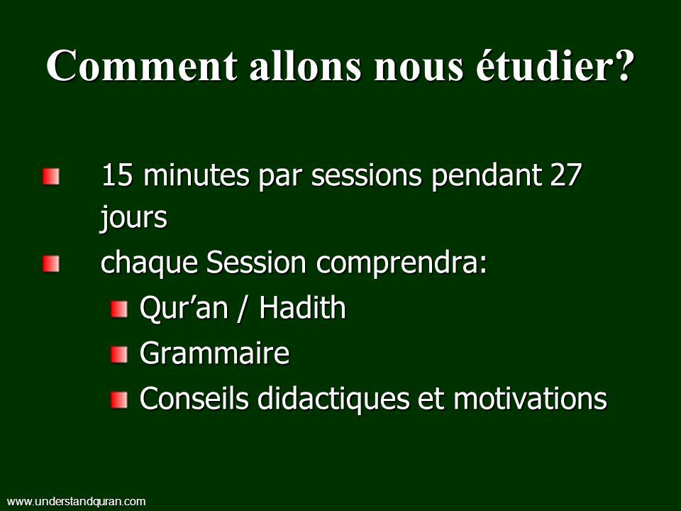 Comment allons nous étudier