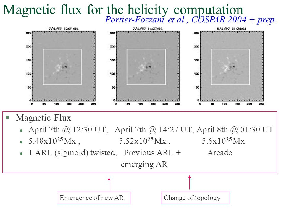 Magnetic flux for the helicity computation
