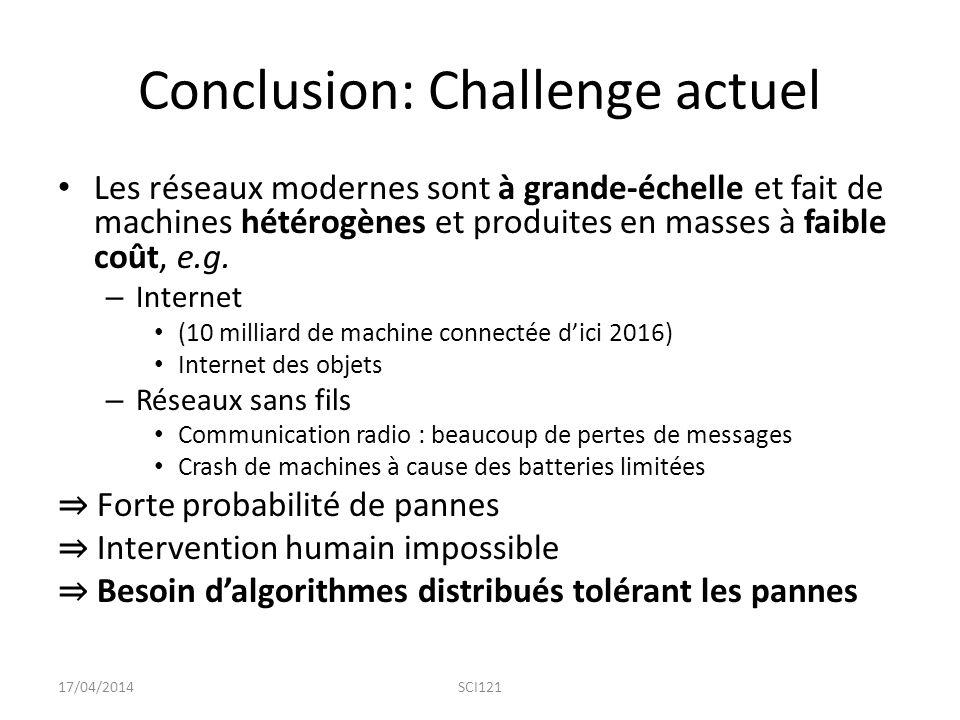 Conclusion: Challenge actuel
