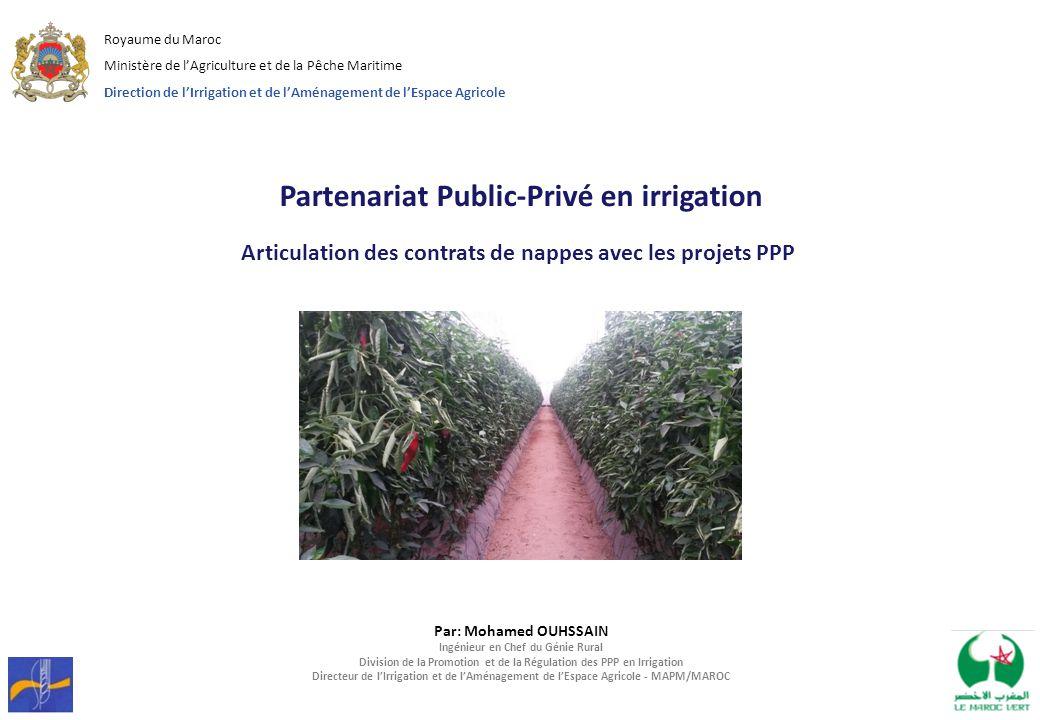 Partenariat Public-Privé en irrigation