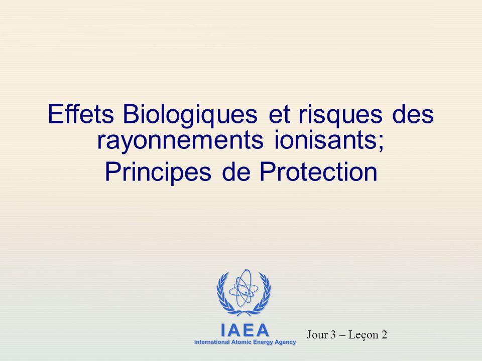 Effets Biologiques et risques des rayonnements ionisants;