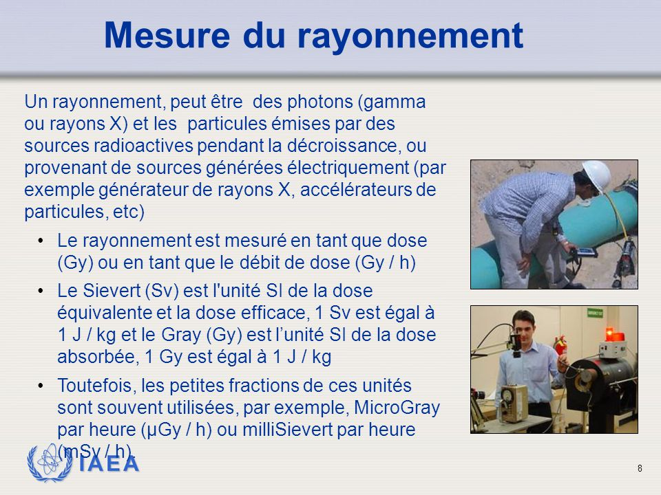 Mesure du rayonnement
