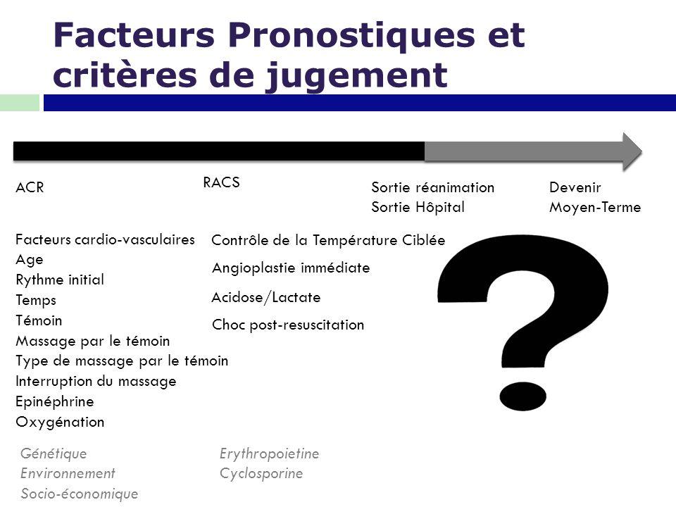 Facteurs Pronostiques et critères de jugement