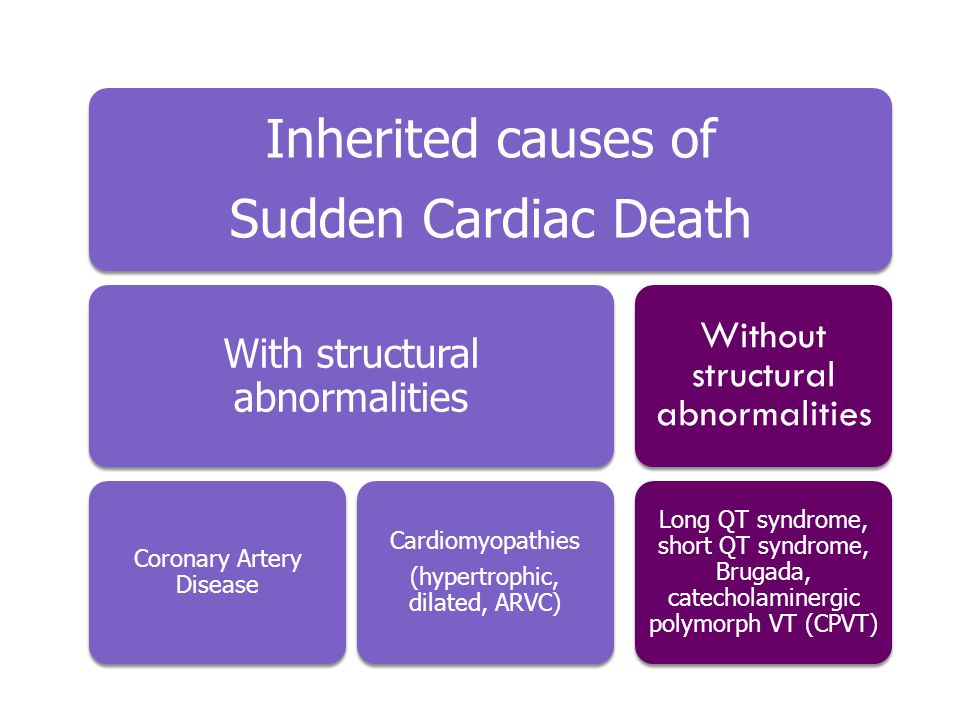 Inherited causes of Sudden Cardiac Death