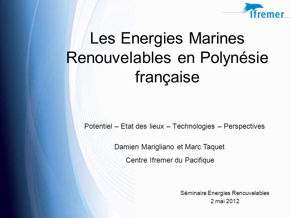 Les Energies Marines Renouvelables en Polynésie française