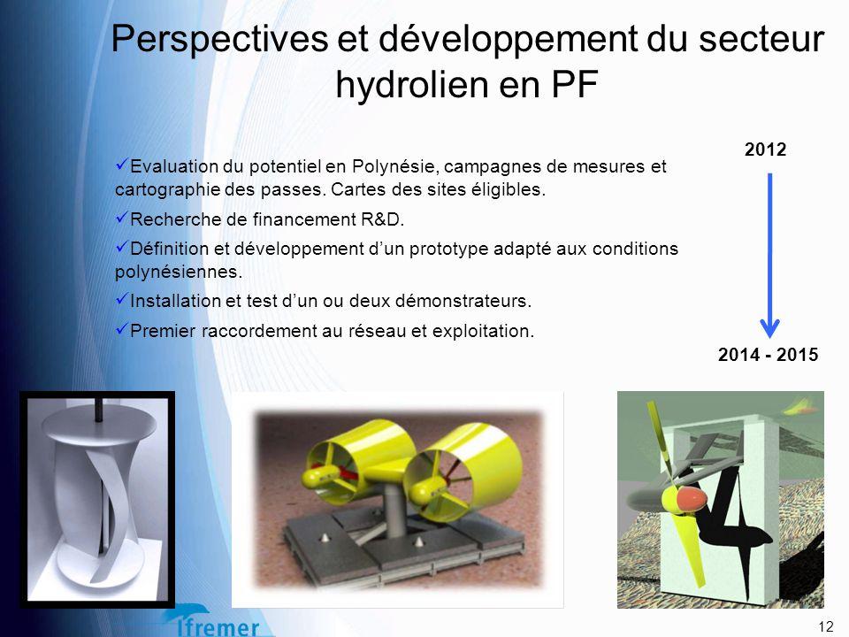 Perspectives et développement du secteur hydrolien en PF