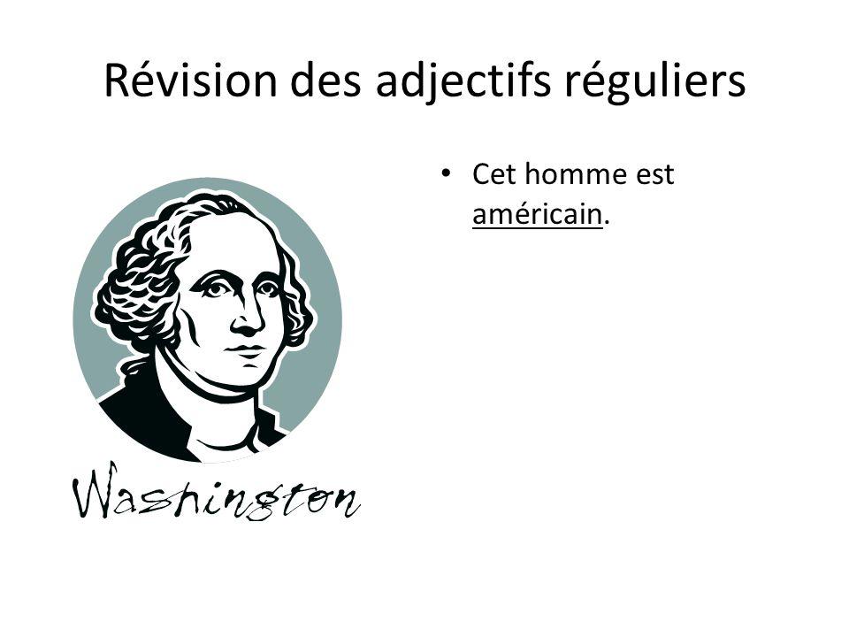 Révision des adjectifs réguliers