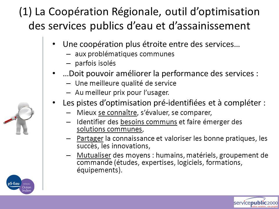 (1) La Coopération Régionale, outil d'optimisation des services publics d'eau et d'assainissement