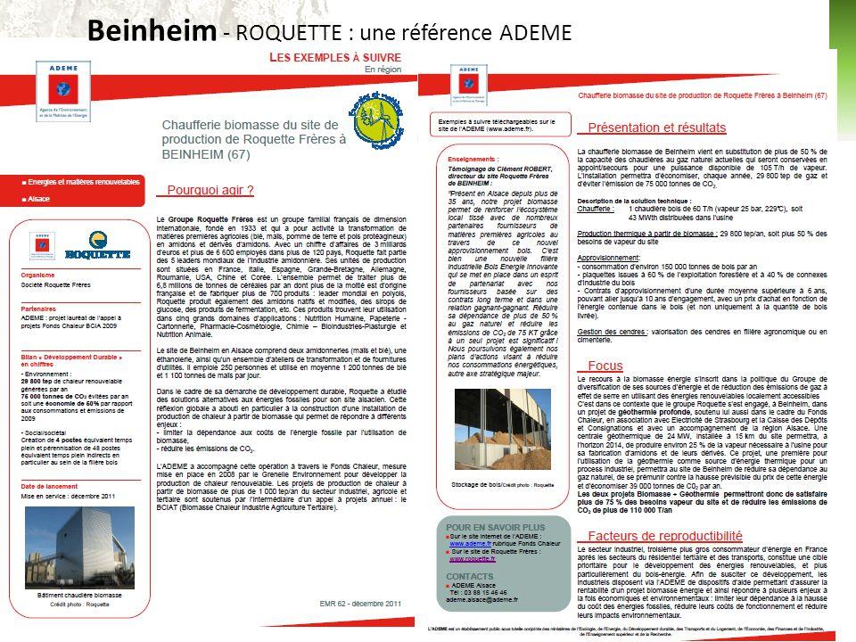 Beinheim - ROQUETTE : une référence ADEME