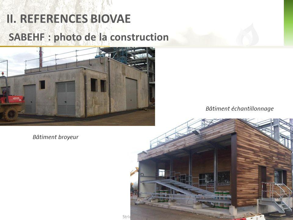 II. REFERENCES BIOVAE SABEHF : photo de la construction