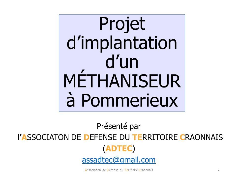 Projet d'implantation d'un MÉTHANISEUR à Pommerieux