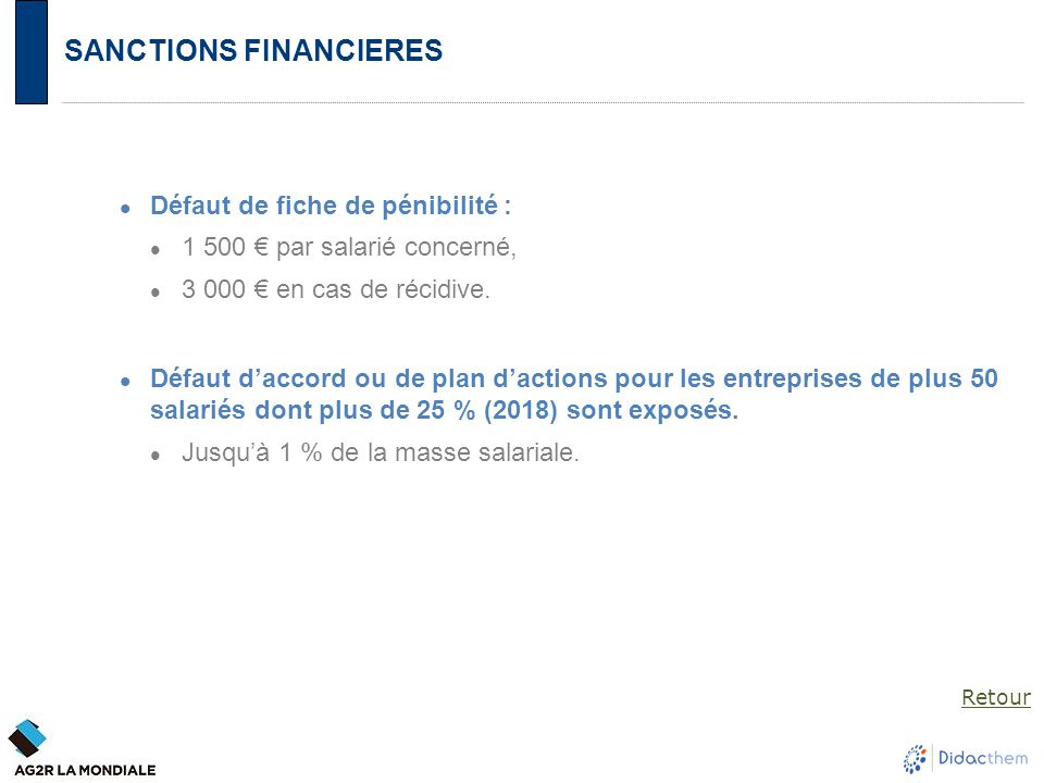 SANCTIONS FINANCIERES
