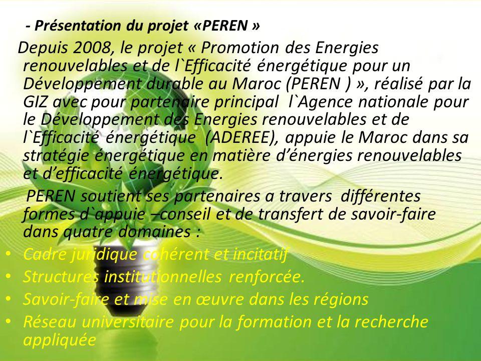 - Présentation du projet «PEREN »