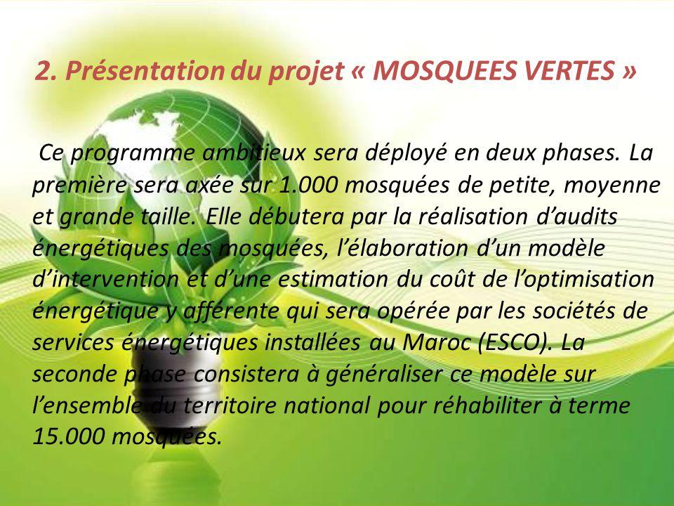 2. Présentation du projet « MOSQUEES VERTES »