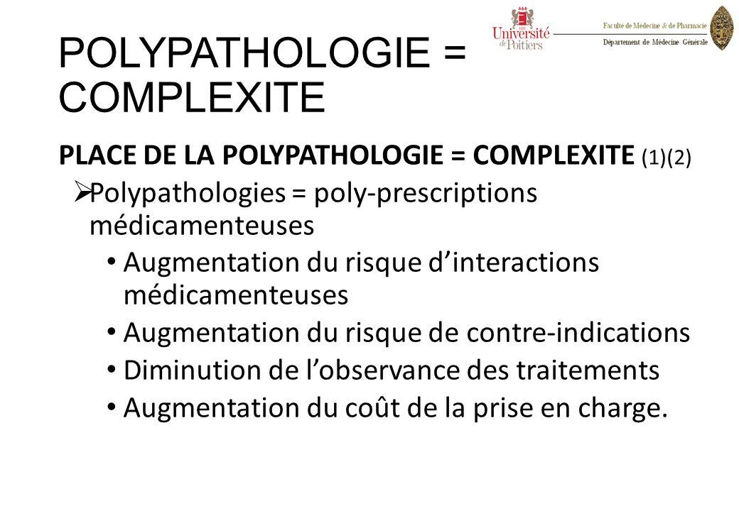 POLYPATHOLOGIE = COMPLEXITE