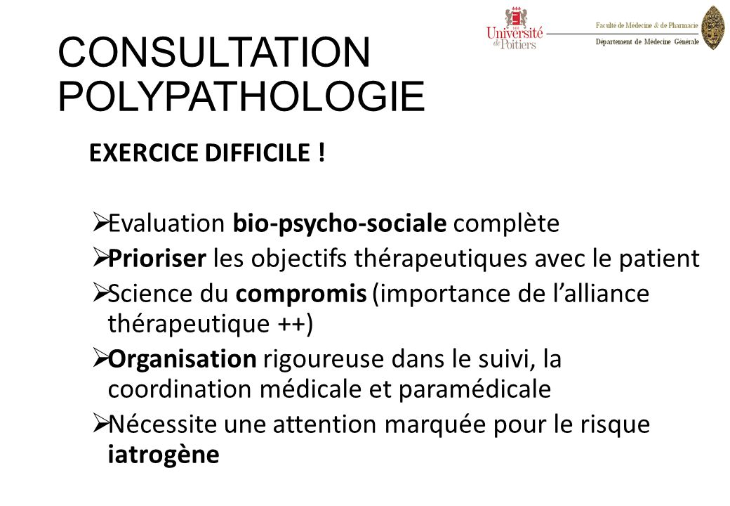 CONSULTATION POLYPATHOLOGIE