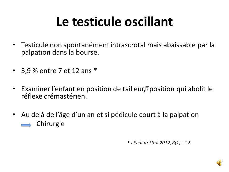 Le testicule oscillant