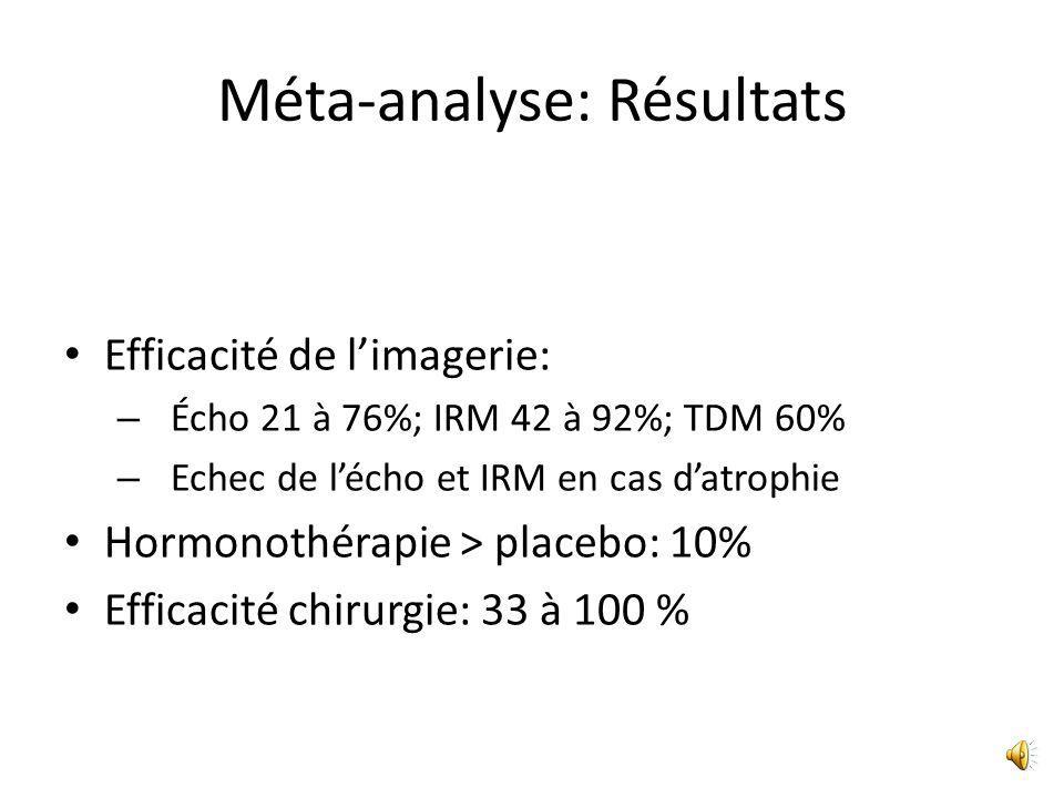 Méta-analyse: Résultats