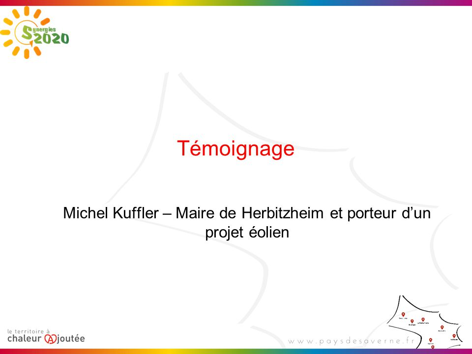 Michel Kuffler – Maire de Herbitzheim et porteur d'un projet éolien