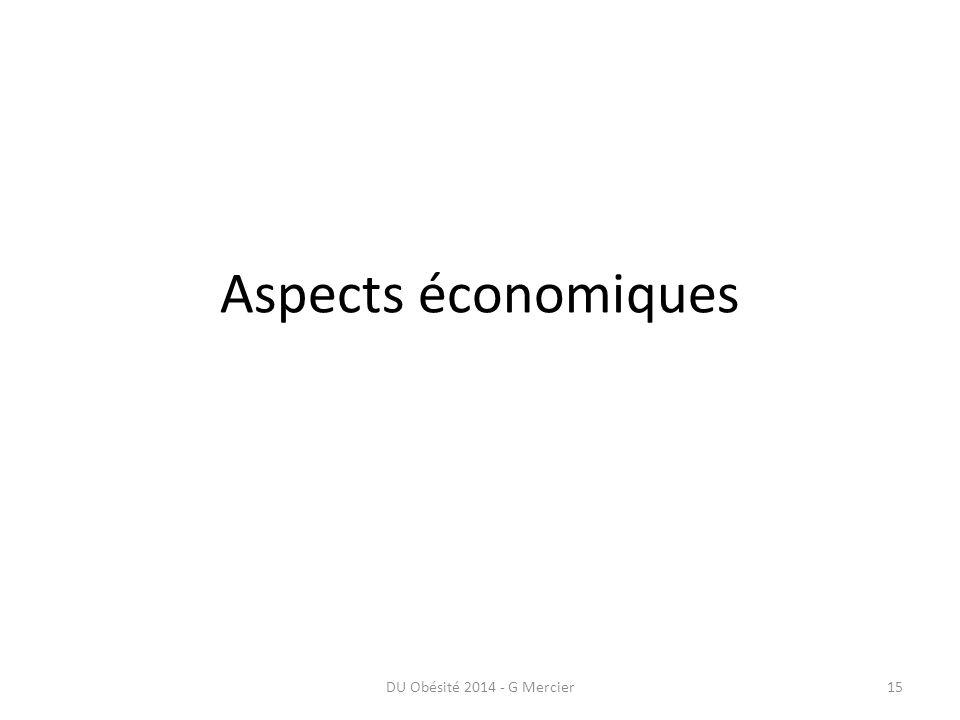 Aspects économiques DU Obésité 2014 - G Mercier