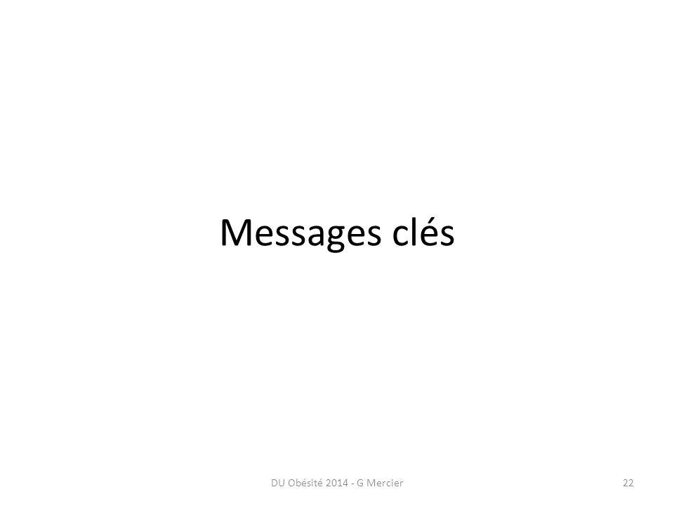 Messages clés DU Obésité 2014 - G Mercier