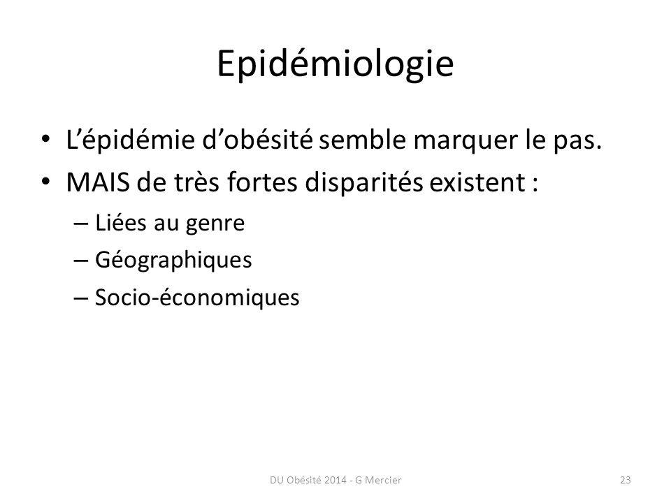 Epidémiologie L'épidémie d'obésité semble marquer le pas.