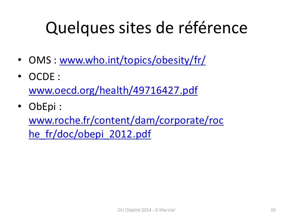 Quelques sites de référence