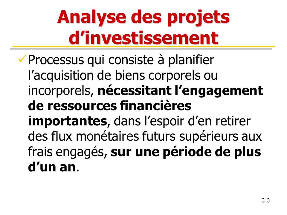 Analyse des projets d'investissement