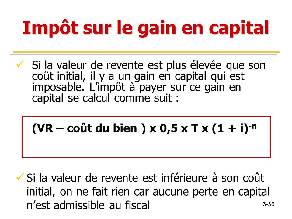 Impôt sur le gain en capital