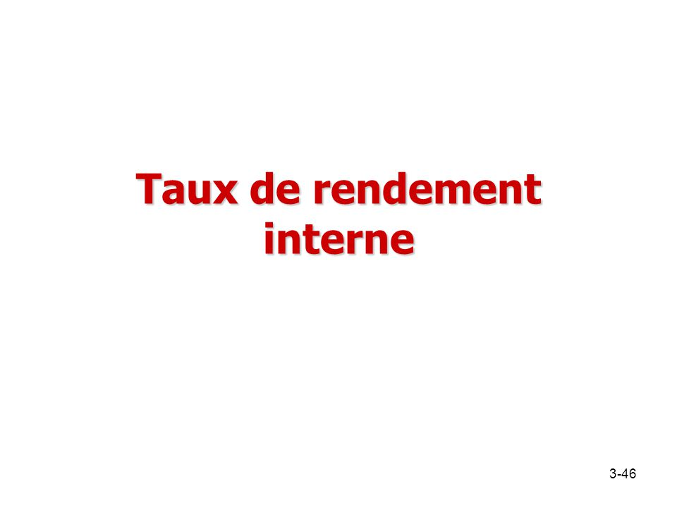 Taux de rendement interne