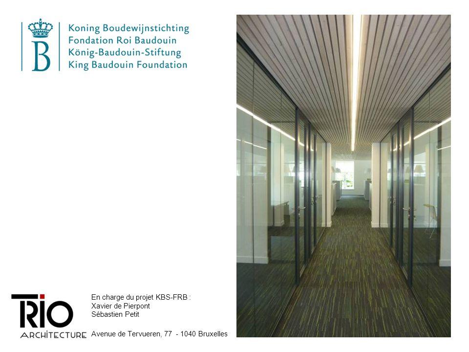 En charge du projet KBS-FRB : Xavier de Pierpont Sébastien Petit Avenue de Tervueren, 77 - 1040 Bruxelles