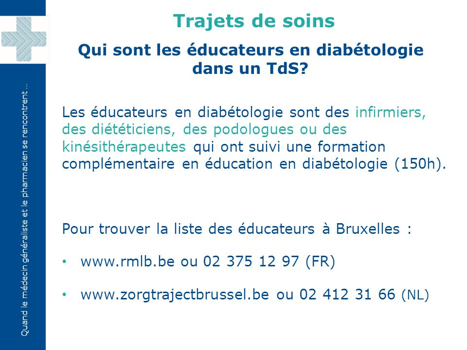 Qui sont les éducateurs en diabétologie