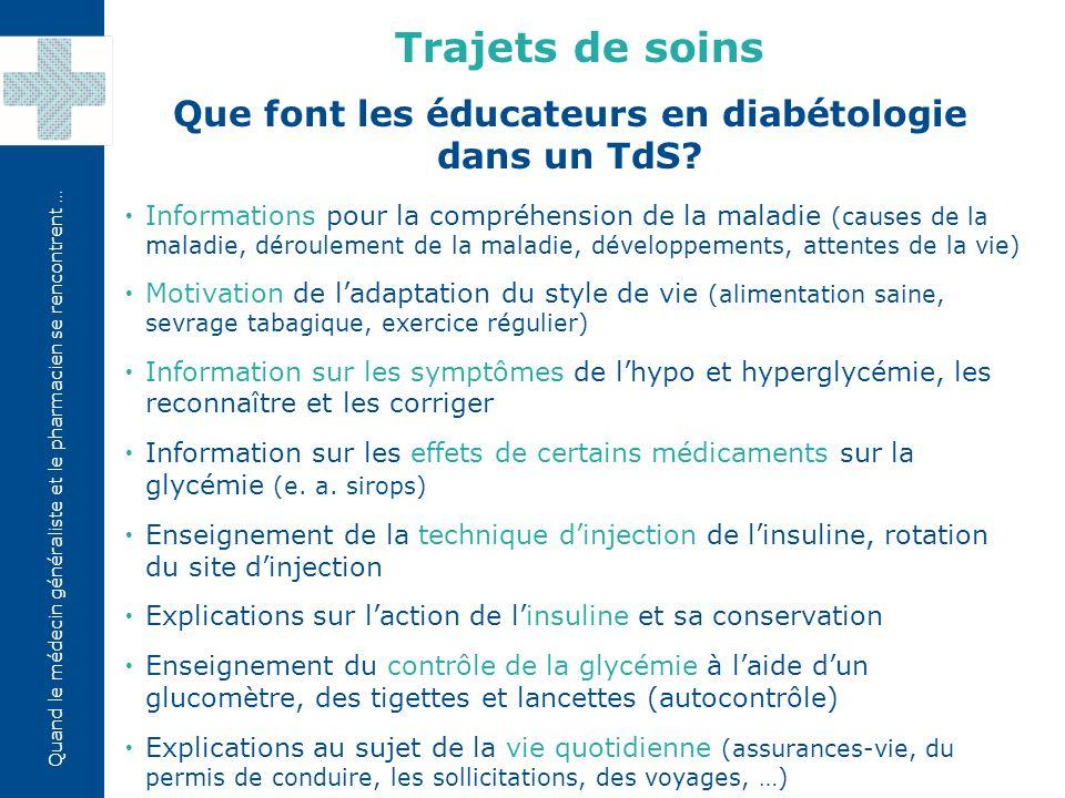 Que font les éducateurs en diabétologie