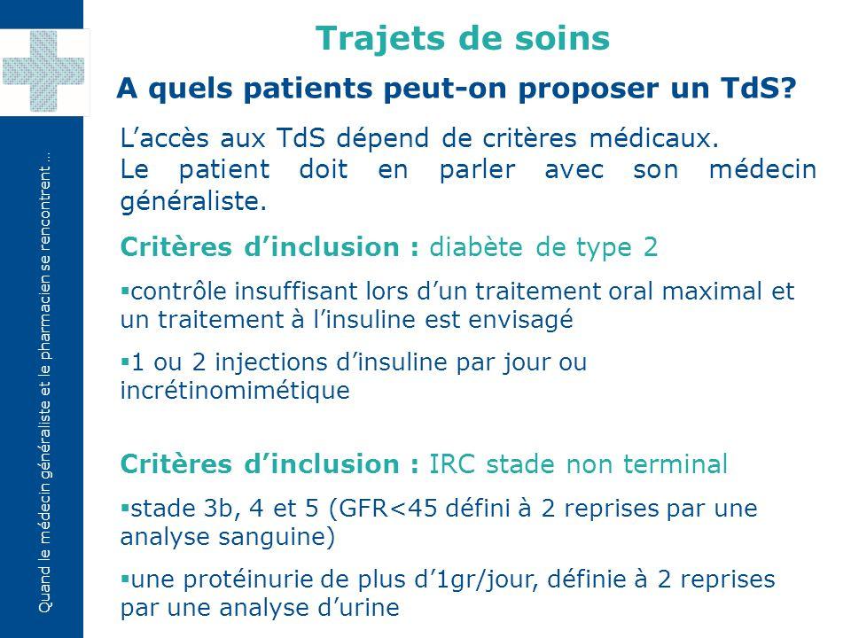 A quels patients peut-on proposer un TdS