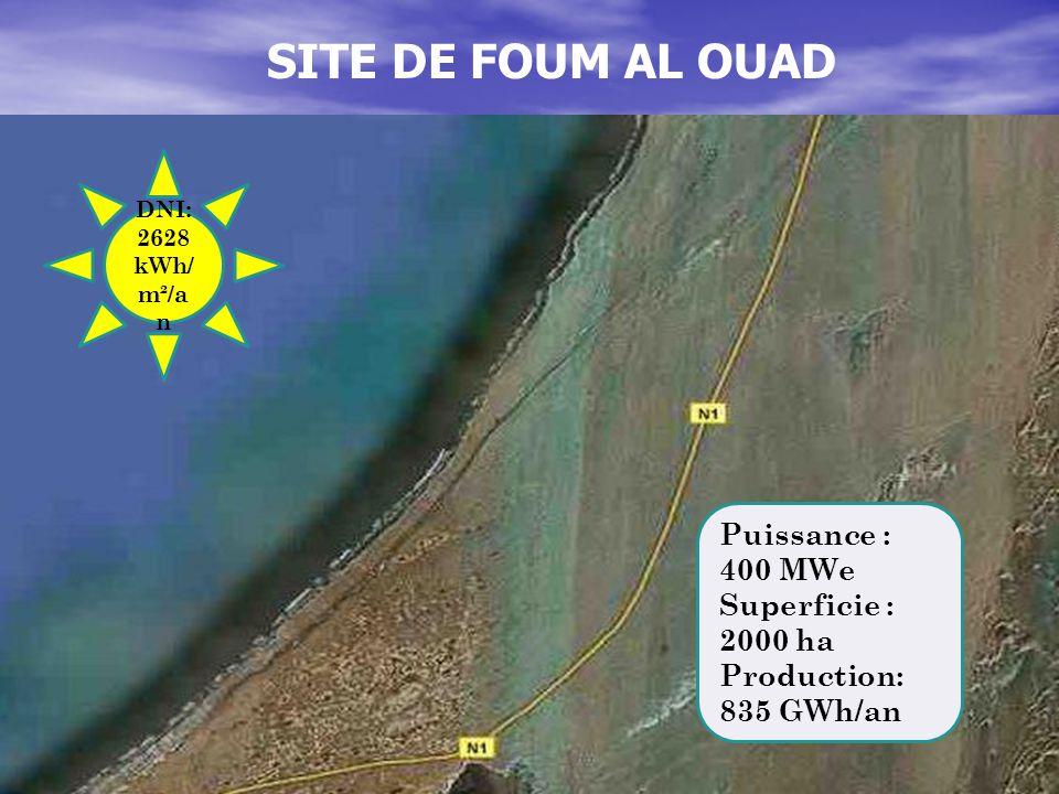 SITE DE FOUM AL OUAD Puissance : 400 MWe Superficie : 2000 ha