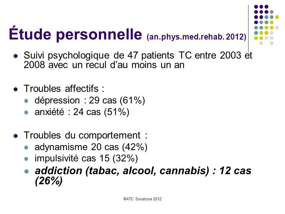 Étude personnelle (an.phys.med.rehab. 2012)
