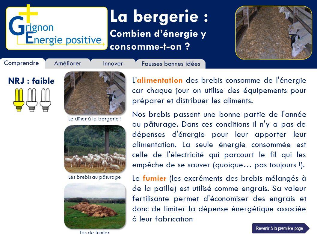 La bergerie : Combien d'énergie y consomme-t-on NRJ : faible
