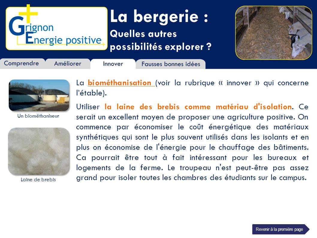 La bergerie : Quelles autres possibilités explorer